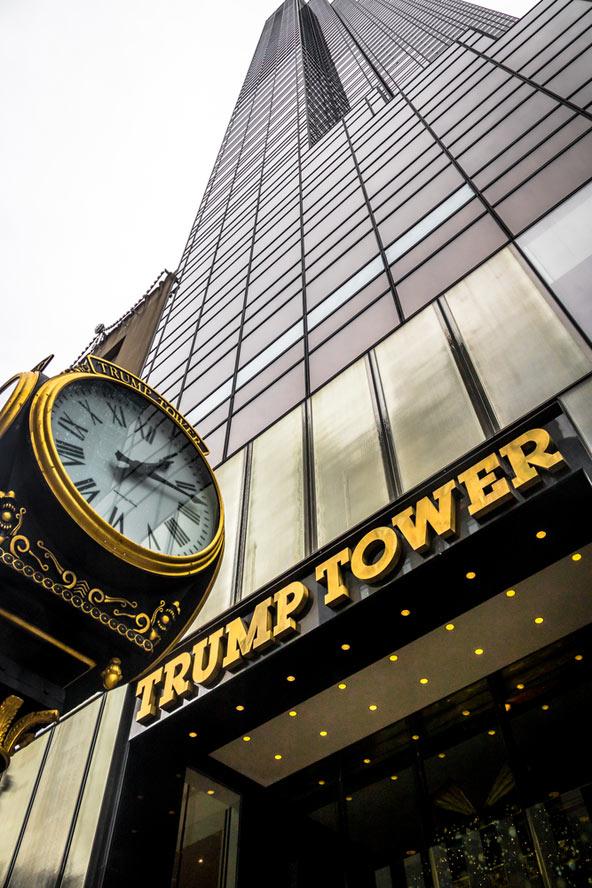 """מגדל טראמפ במנהטן. """"אגו הוא חלק חשוב מאוד בבניית גורד שחקים"""", אמר פעם טראמפ בראיון"""