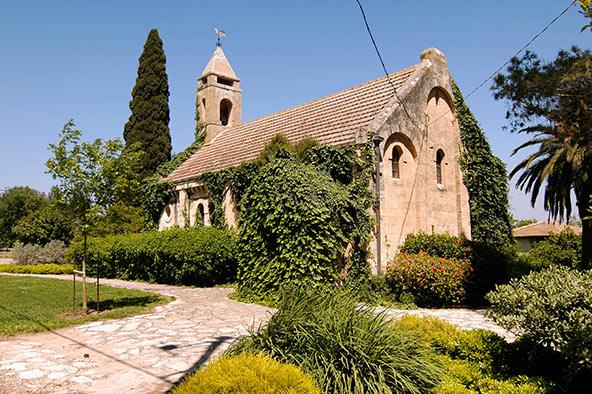כנסייה שנבנתה ב-1916 בידי תושבי המושבה הטמפלרית וולדהיים (היום אלוני אבא)