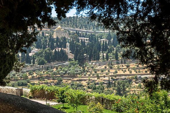 מבט לעין כרם ממנזר אחיות ציון