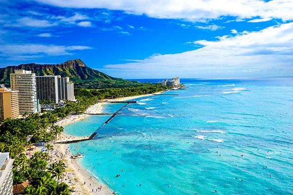חוף וואיקיקי בהונלולו, בירת הוואי