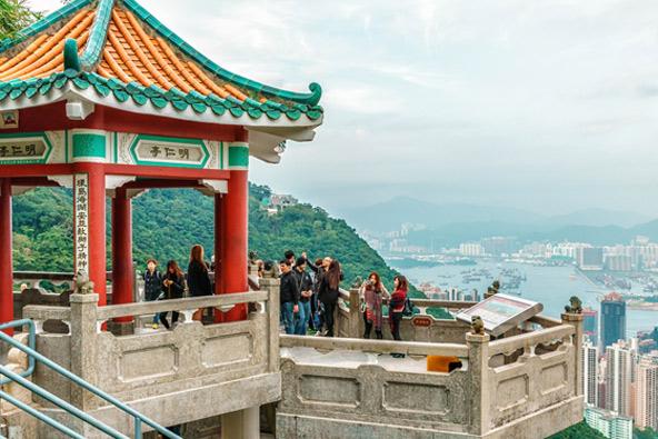 מרפסת תצפית בפסגת ויקטוריה, הנקודה הגבוהה ביותר באי הונג קונג