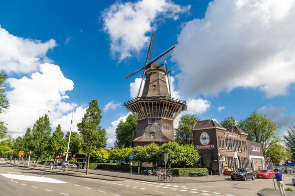 טחנת הרוח De Gooyer במזרח אמסטרדם