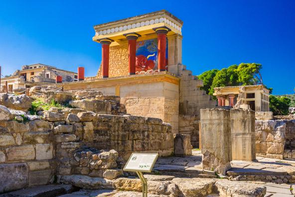 הארמון בקנוסוס, שריד מרשים מהתרבות המינואית