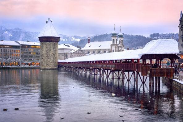 לוצרן בחורף: היפהפייה המתעוררת