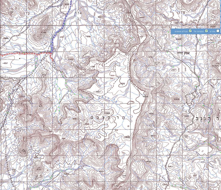 מפת הר כרכום: הר סיני המקראי?
