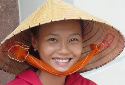 וייטנאם וקמבודיה גיאוגרפי עם טוס מסורת