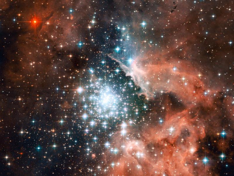 יקום בוהק: צביר כוכבים נוצצים