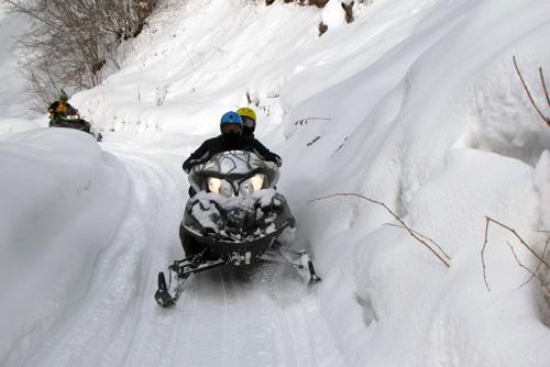 גאורגיה: רק אני ואופנוע השלג שלי