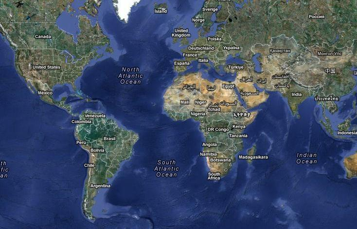 מפת כדור הארץ