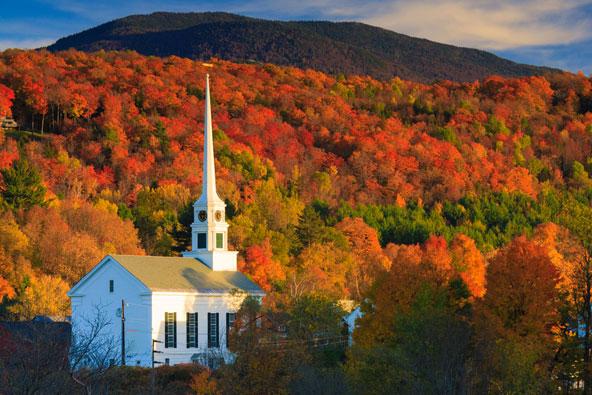ניו אינגלנד: כל העצים לבשו אדום