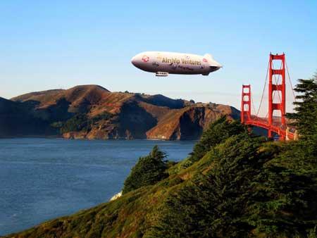 צפלין בשמי סן פרנסיסקו