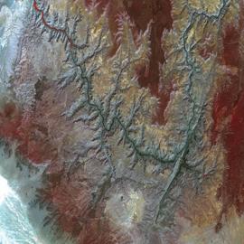 מפת גרנד קניון, ארצות הברית (צילום לוויין)