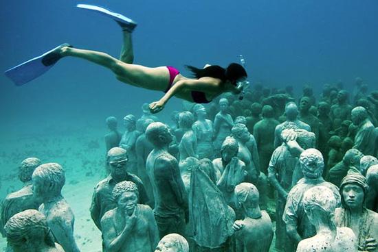 קנקון, מקסיקו – מוזיאון מתחת למים