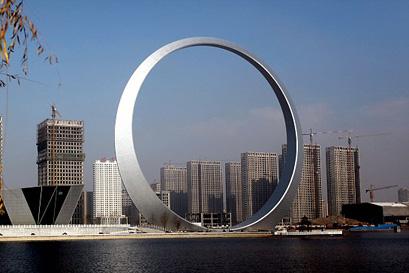 עוד פרויקט מגלומני בסין: טבעת בגובה גורד שחקים