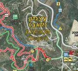 מפת מסלול אופניים יער שגב