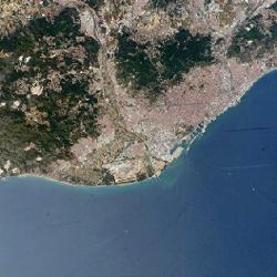 מפת ברצלונה, ספרד