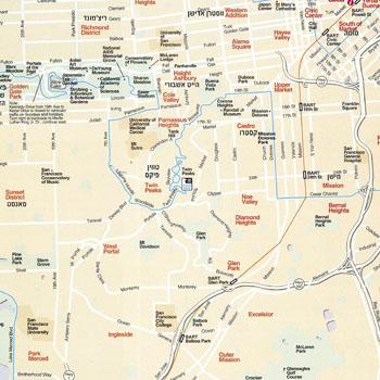 מפת סן פרנסיסקו, ארצות הברית