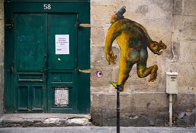 ציורי קיר בפריז – תעתועים על הקירות