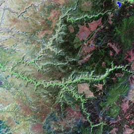 """מפת הקניון הלאומי של צ'לי, אריזונה, ארה""""ב"""