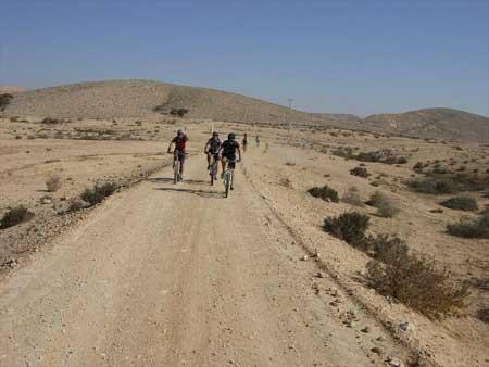 באופניים אל חמוקי הקרטון ליד משאבי שדה