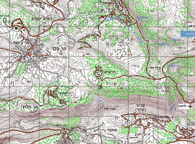מפת חרשים – הר שזור