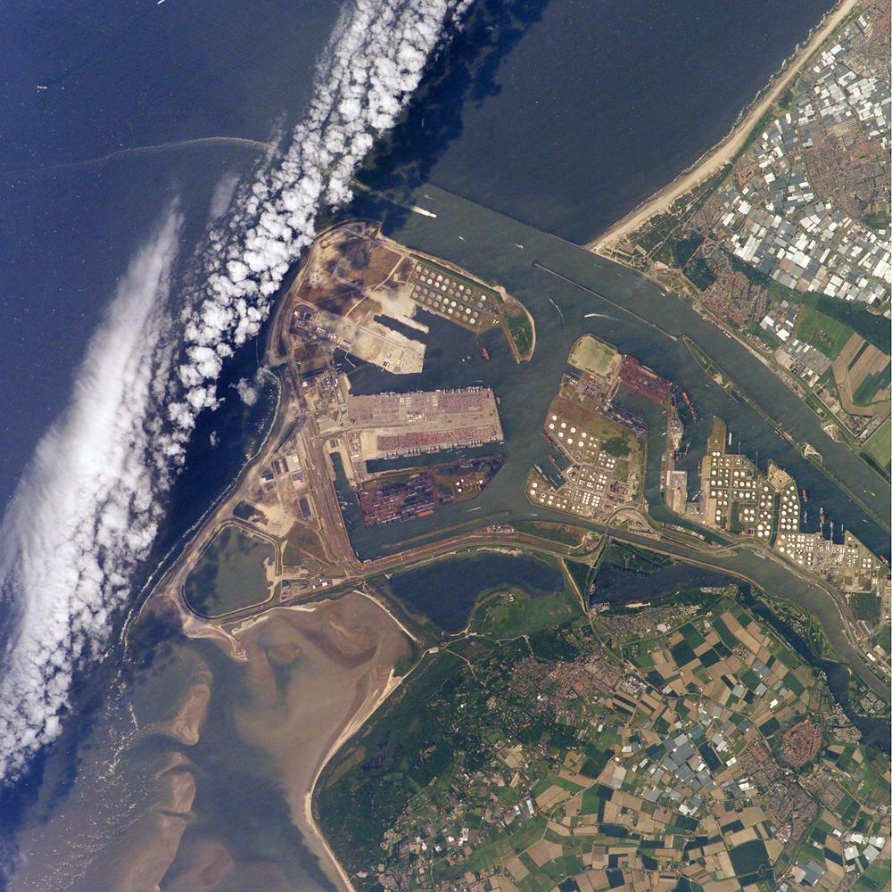 מפת נמל רוטרדם, הולנד