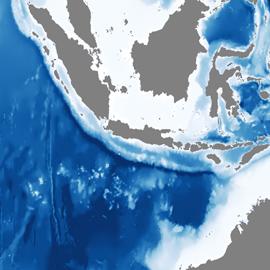 מפת הצונאמי מכה בג'אווה, אינדונזיה