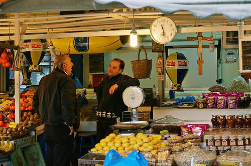 סלוניקי: כיכר השוק הומה