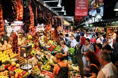 שוק לה בוקריה בברצלונה: חוויה לכל החושים