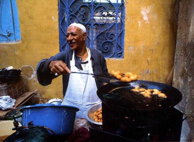 קהיר: אוכלים ברחוב
