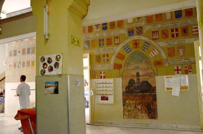 ציורי קיר מרהיבים נחשפו בבית חולים בירושלים
