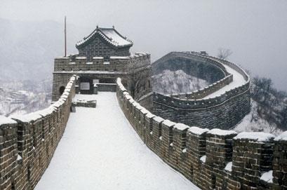 שלושה תיירים קפאו למוות על החומה הסינית