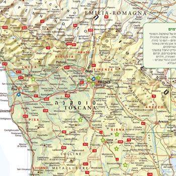 מפת טוסקנה, איטליה