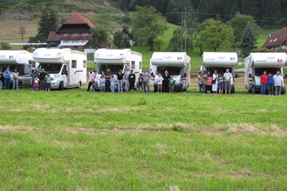 טיול   משפחות בקרוואנים בנתיבי היער השחור, אלזס ושוויץ
