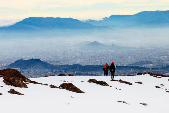 צילום: סנטיאגו דה צ'ילה ורכס האנדים