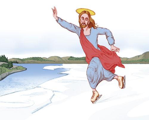 ישו על הקרח