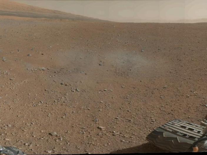 תמונה פנורמית ראשונה של מכתש גייל במאדים