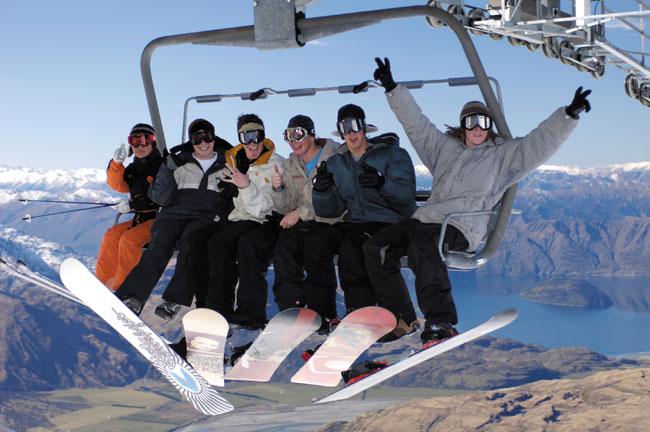 סקי בקיץ: לגלוש, אבל הפוך