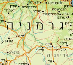 מפת גרמניה - מפות בעברית באתר מסע אחר לתכנון טיול בגרמניה
