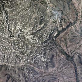"""מפת שדות הנפט של ייטס, מערב טקסס, ארה""""ב"""