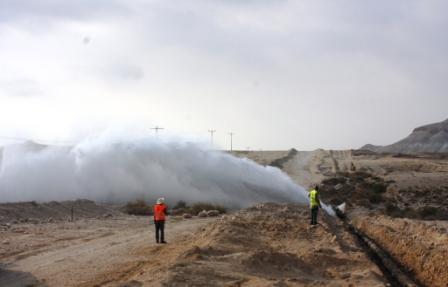 יותר ממיליון ליטרים של דלק זרמו לנחל צין