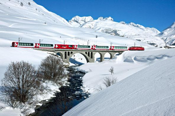 רכבת הקרחונים בשוויץ