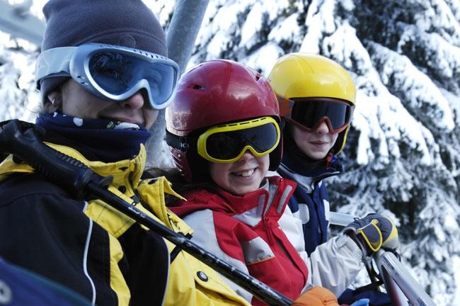 סקי עם ילדים: מגלשיים במידה 25
