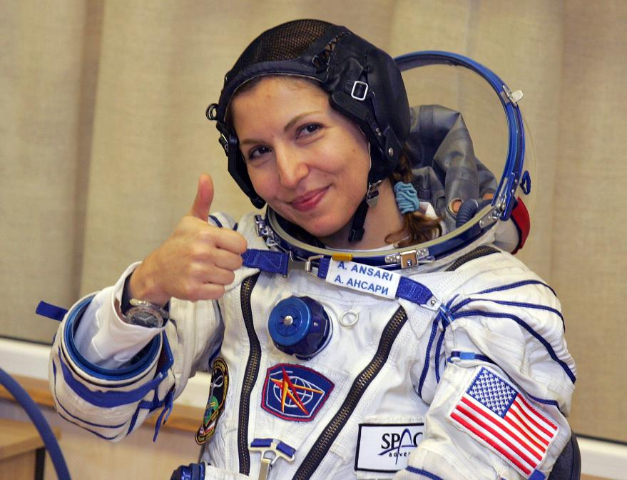 תיירת ראשונה בחלל
