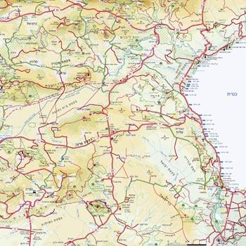 מקורי מפת מזרח-תיכון - מפות בעברית באתר מסע אחר לתכנון טיול במזרח-תיכון OJ-33