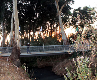 נחנכו גשרים להולכי רגל ורוכבי אופניים מעל הירקון