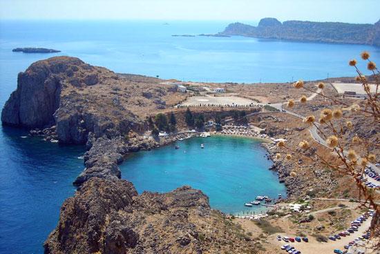 רודוס, חופים רבים לו