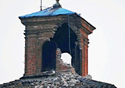 רעידת האדמה באיטליה: מבנים היסטוריים קורסים