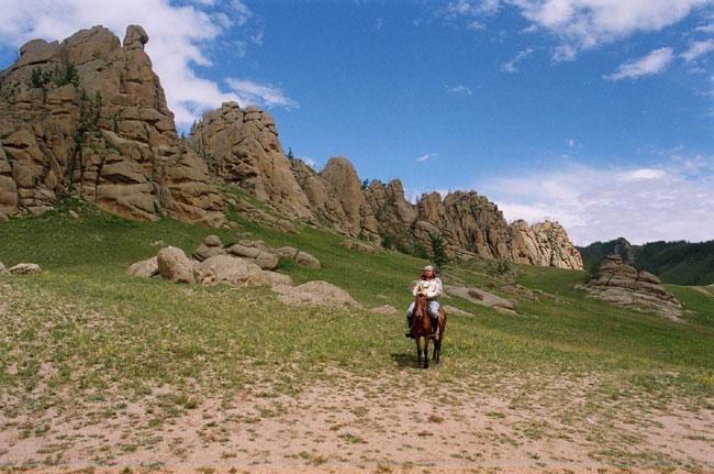 פארק טרלז', מונגוליה: סלעים עם נשמות