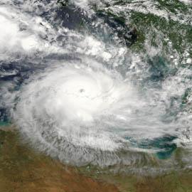 מפת הציקלון הטרופי מוניקה, אוסטרליה